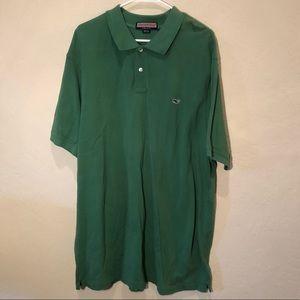 Vineyard Vines Dark Green Solid Polo Shirt